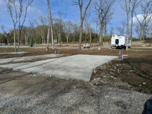 trailer concrete pad